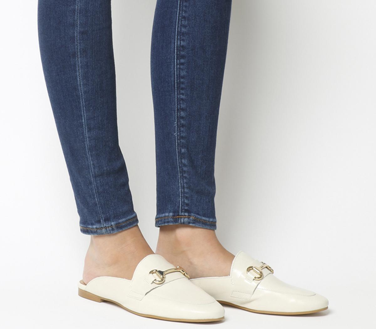Office Fondness Mule Loafers White