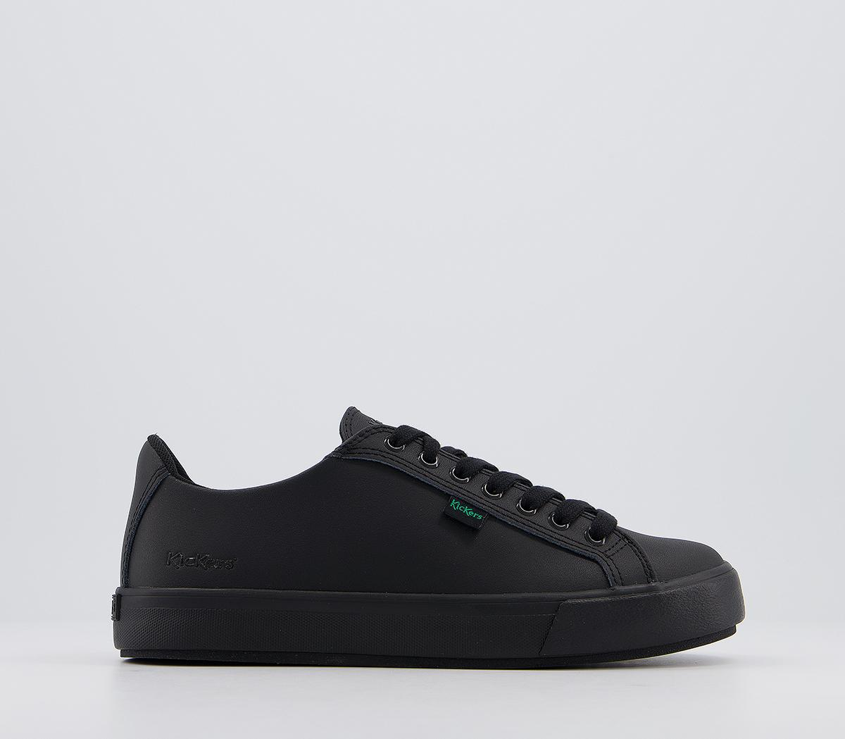kickers black leather shoes