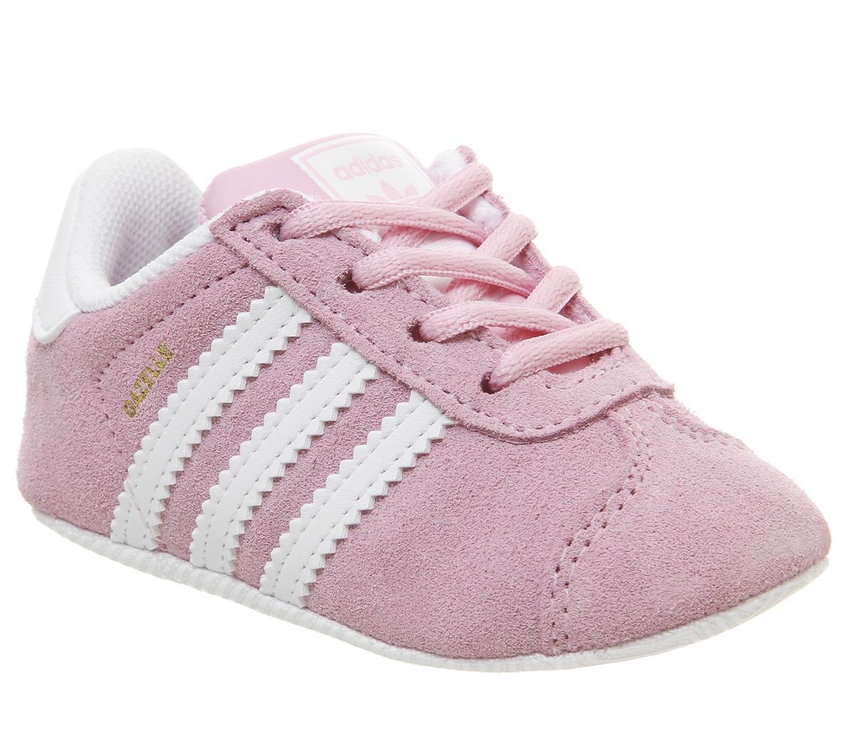 adidas Gazelle Crib Trainers True Pink
