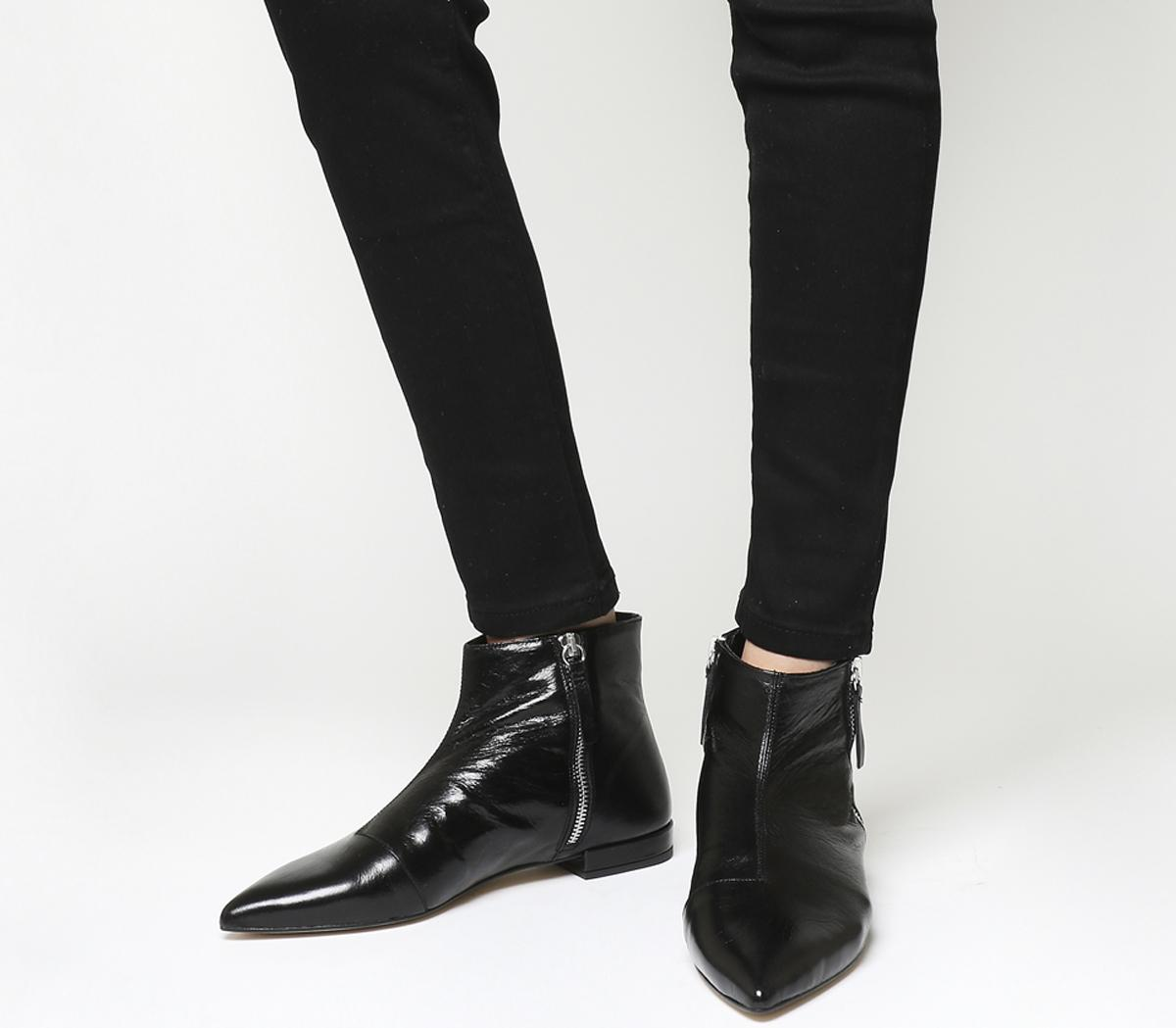 Office Arrow Flat Pointed Ankle Boots