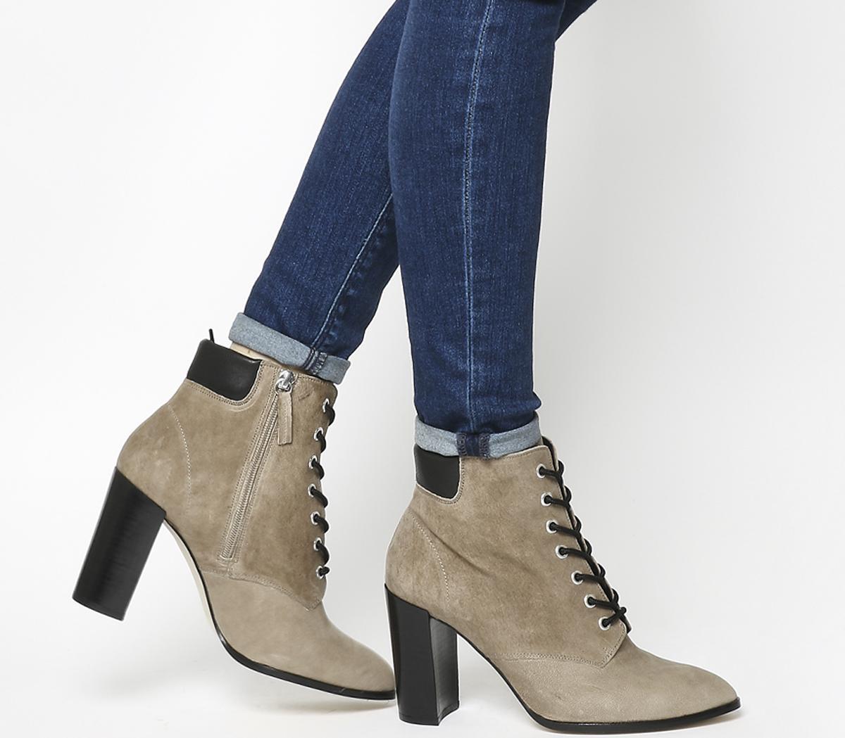 Attitude- Lace Up Block Heel Boot