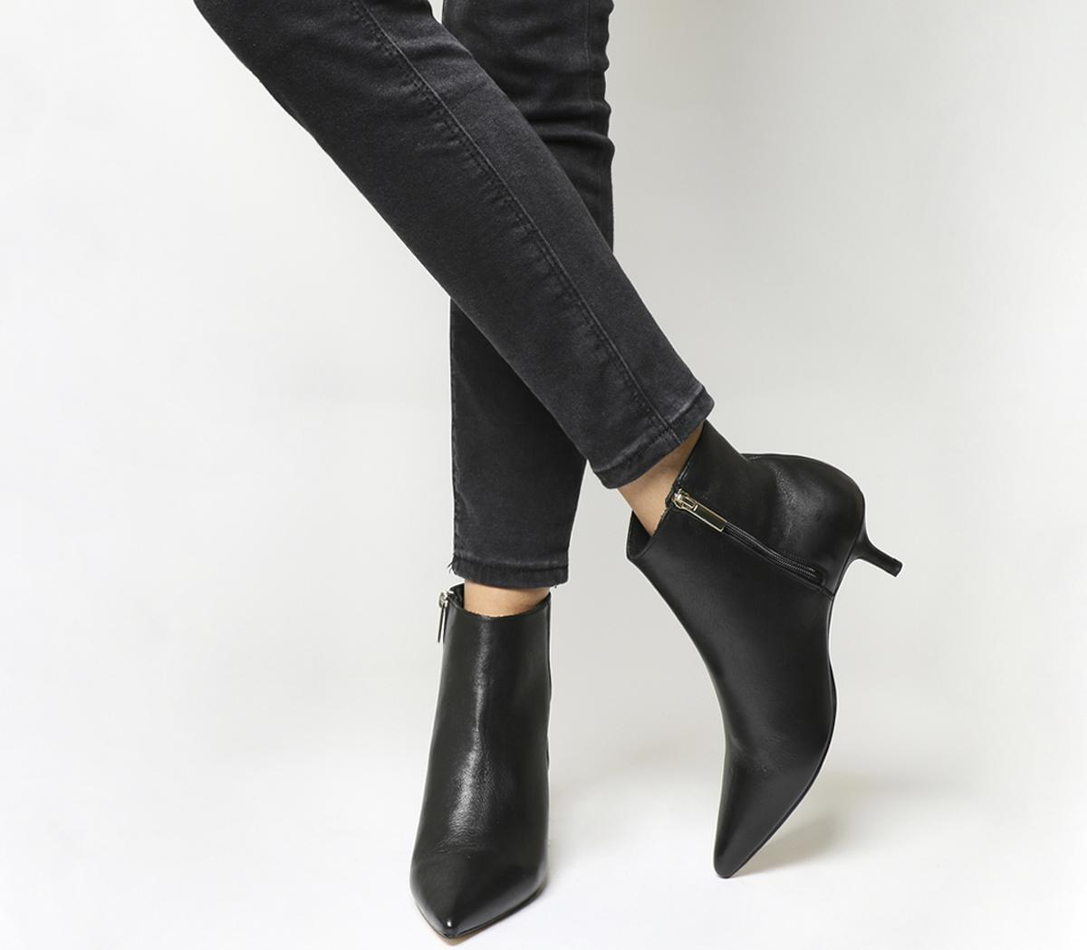 Office Alibi Kitten Heel Boots Black