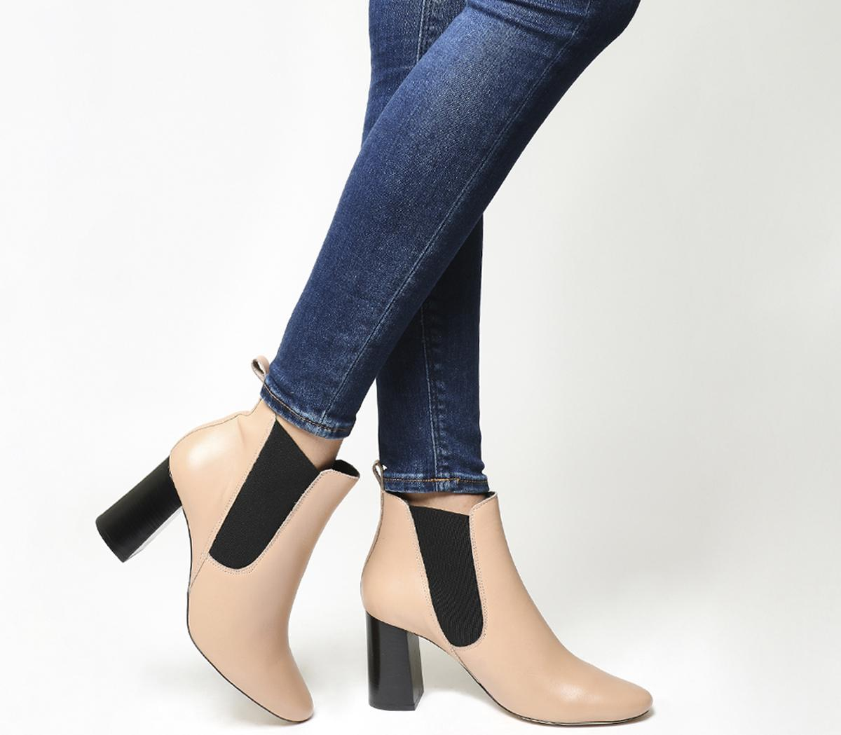 Autumn Block Heel Chelsea Boots