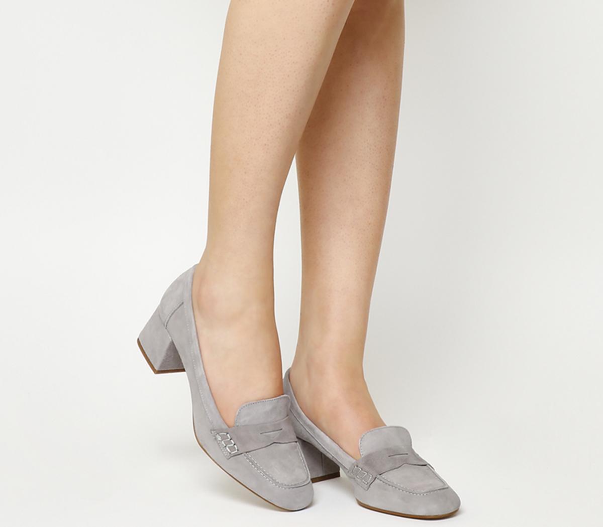 Mod Block Heel Loafers