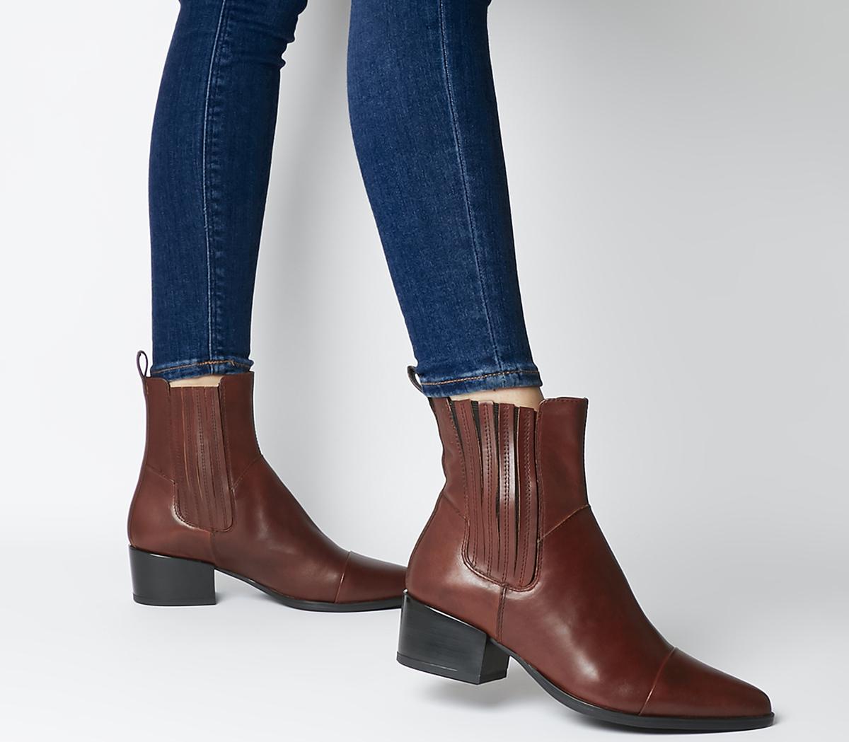Vagabond Marja Chelsea Boots Brandy