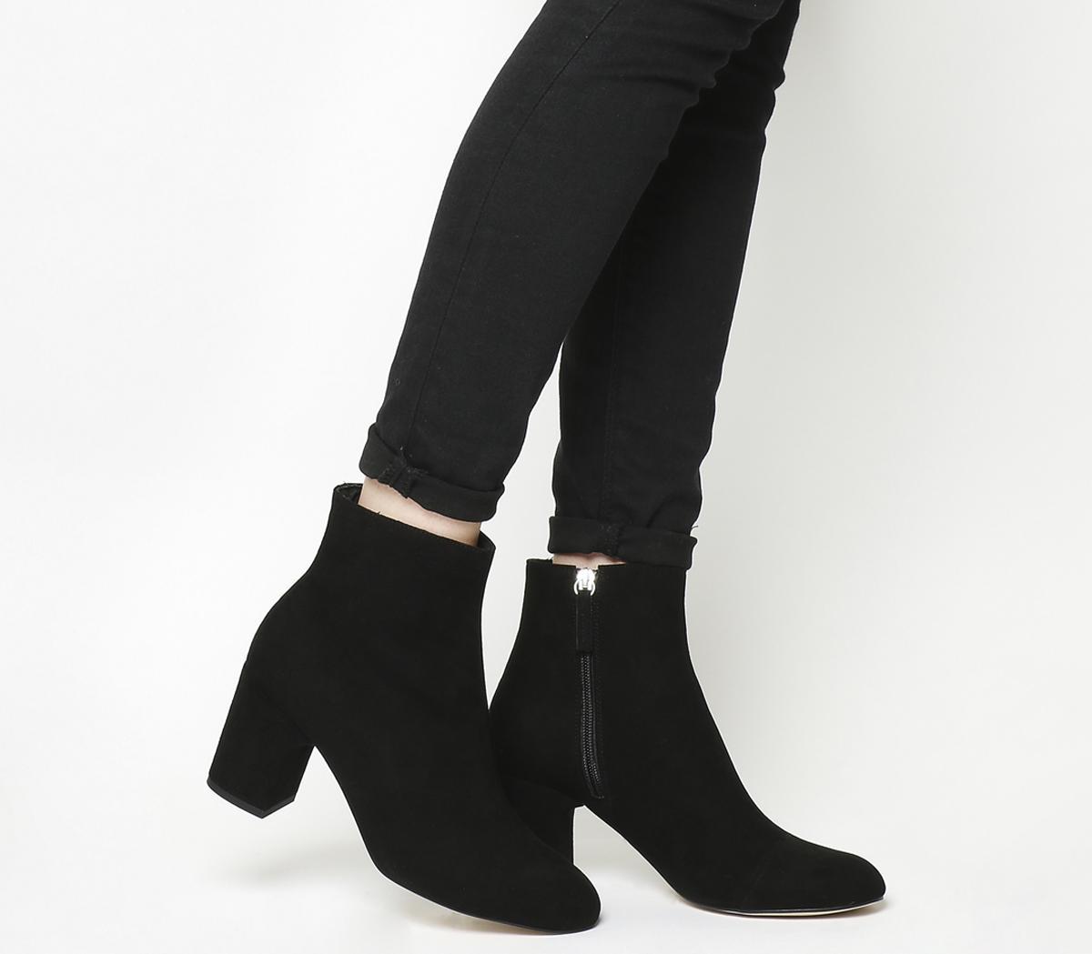 Office Applause- Block Heel Boot Black