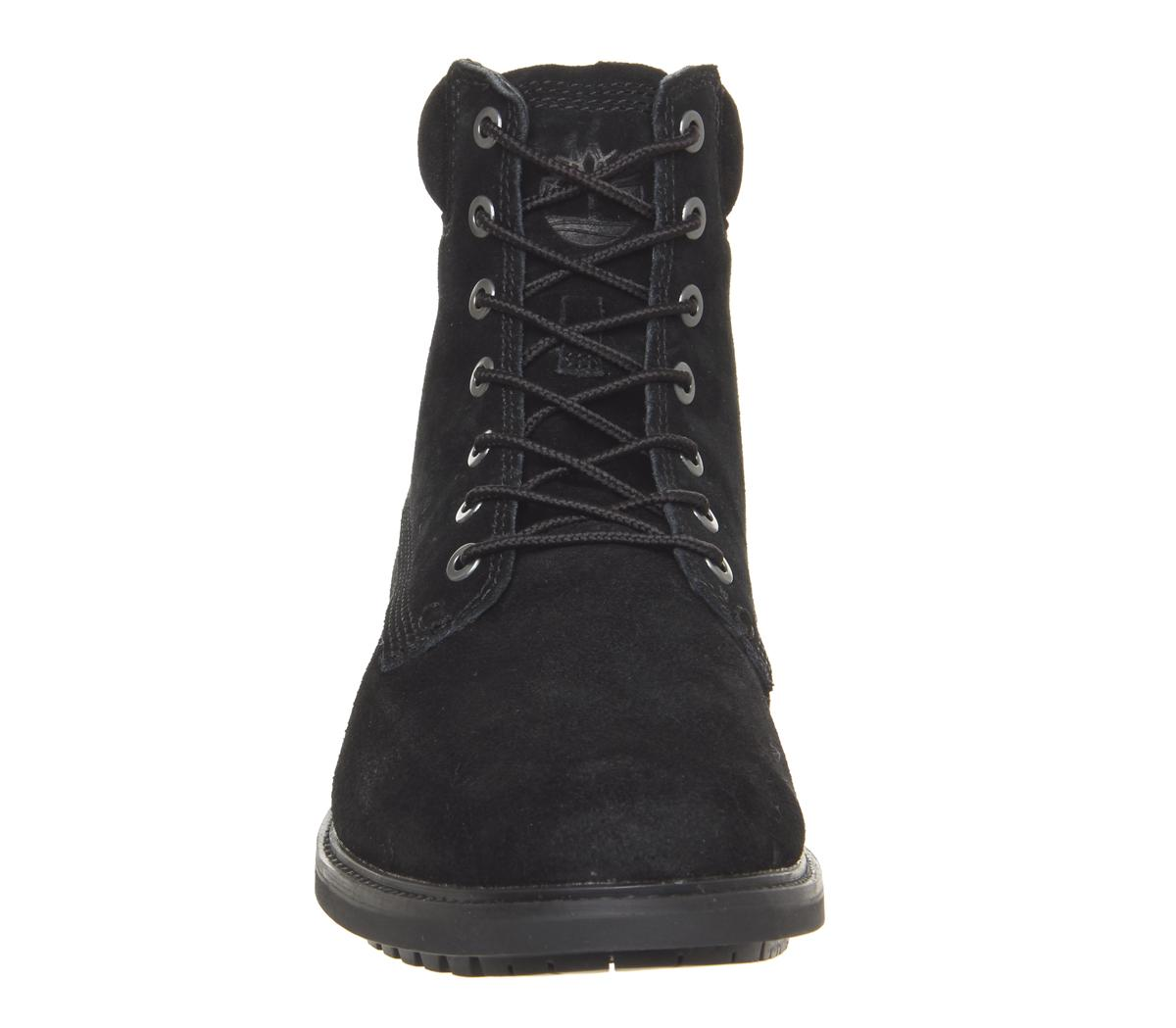 Timberland Mens Slim Boots Black Suede