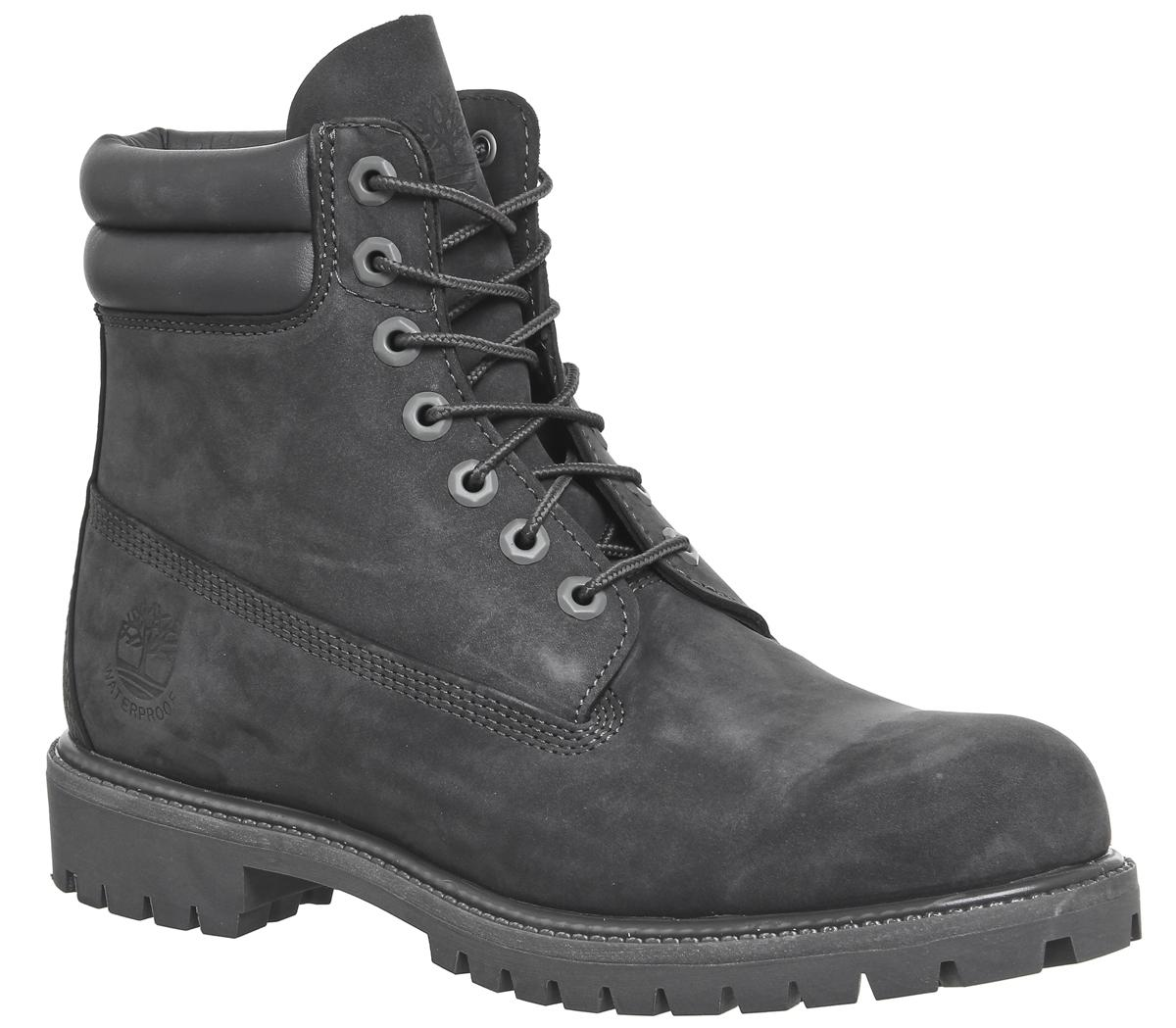 medios de comunicación pago detergente  Timberland 6 Inch Double Collar Boots Dark Grey - Boots