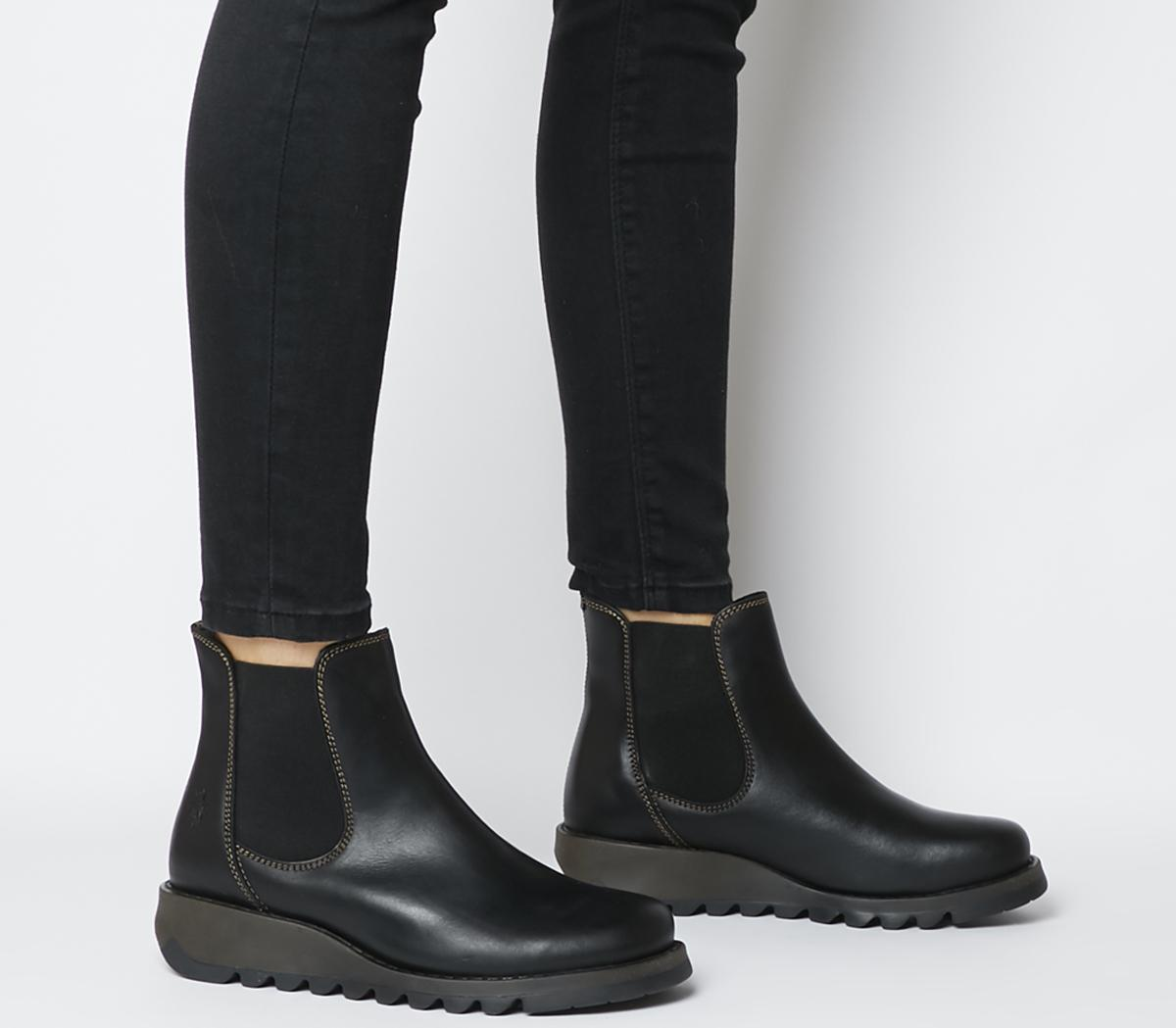 Fly London Salv Chelsea Boots Black