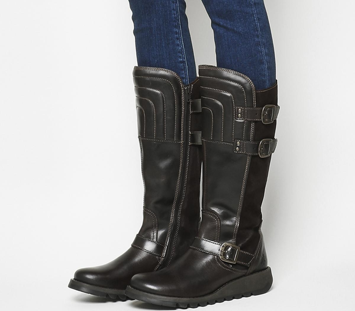 Fly London Sher Tall Boot Dark Brown