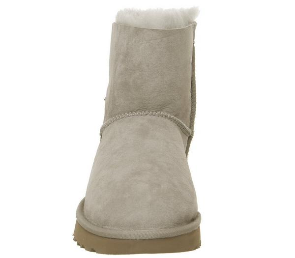 UGG Mini Bailey Bow Boots Oyster - Ankle Boots 2XMtggl