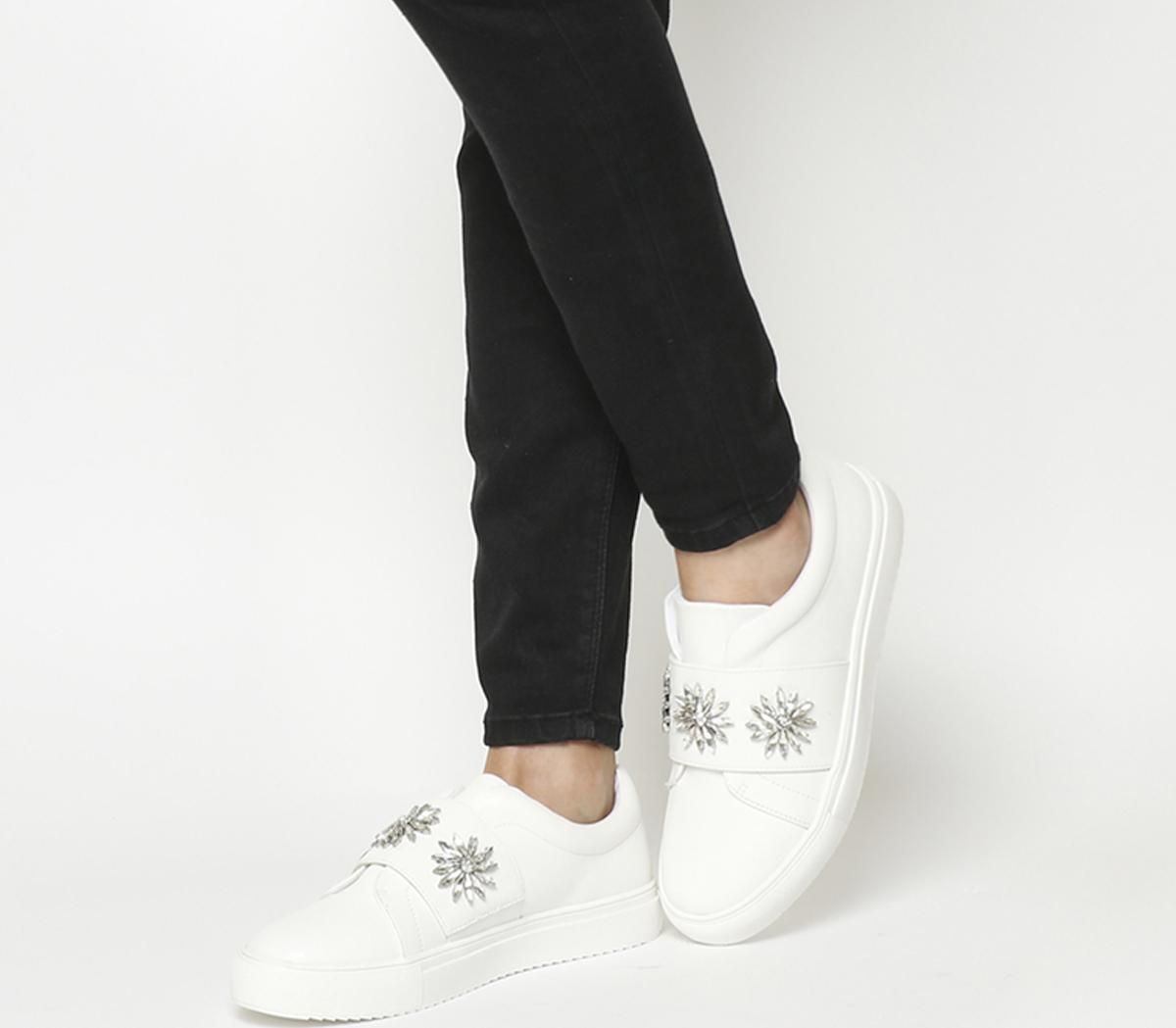 Frozen Embellished Strap Trainers