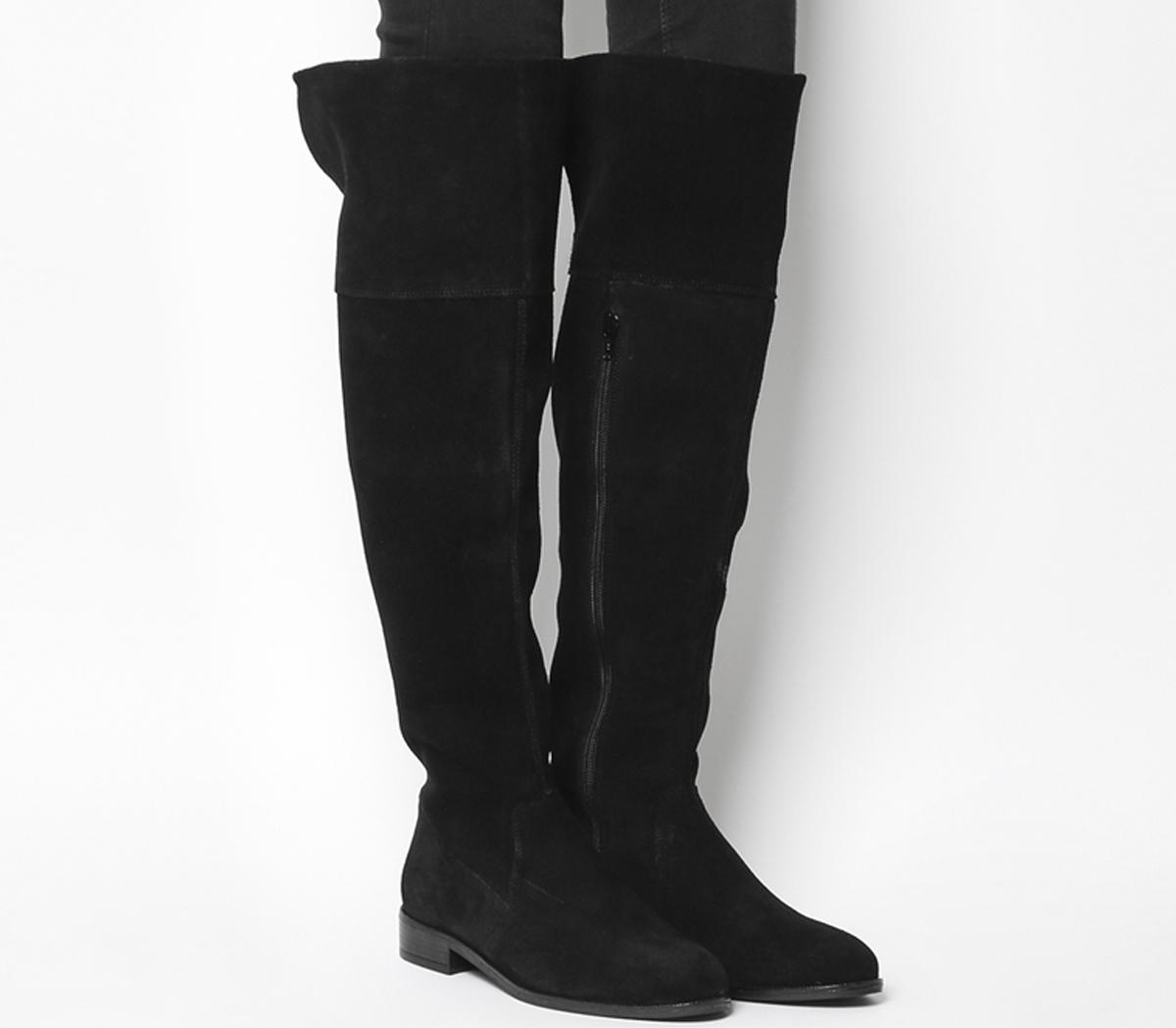 Kooper Suede Casual Knee Boots