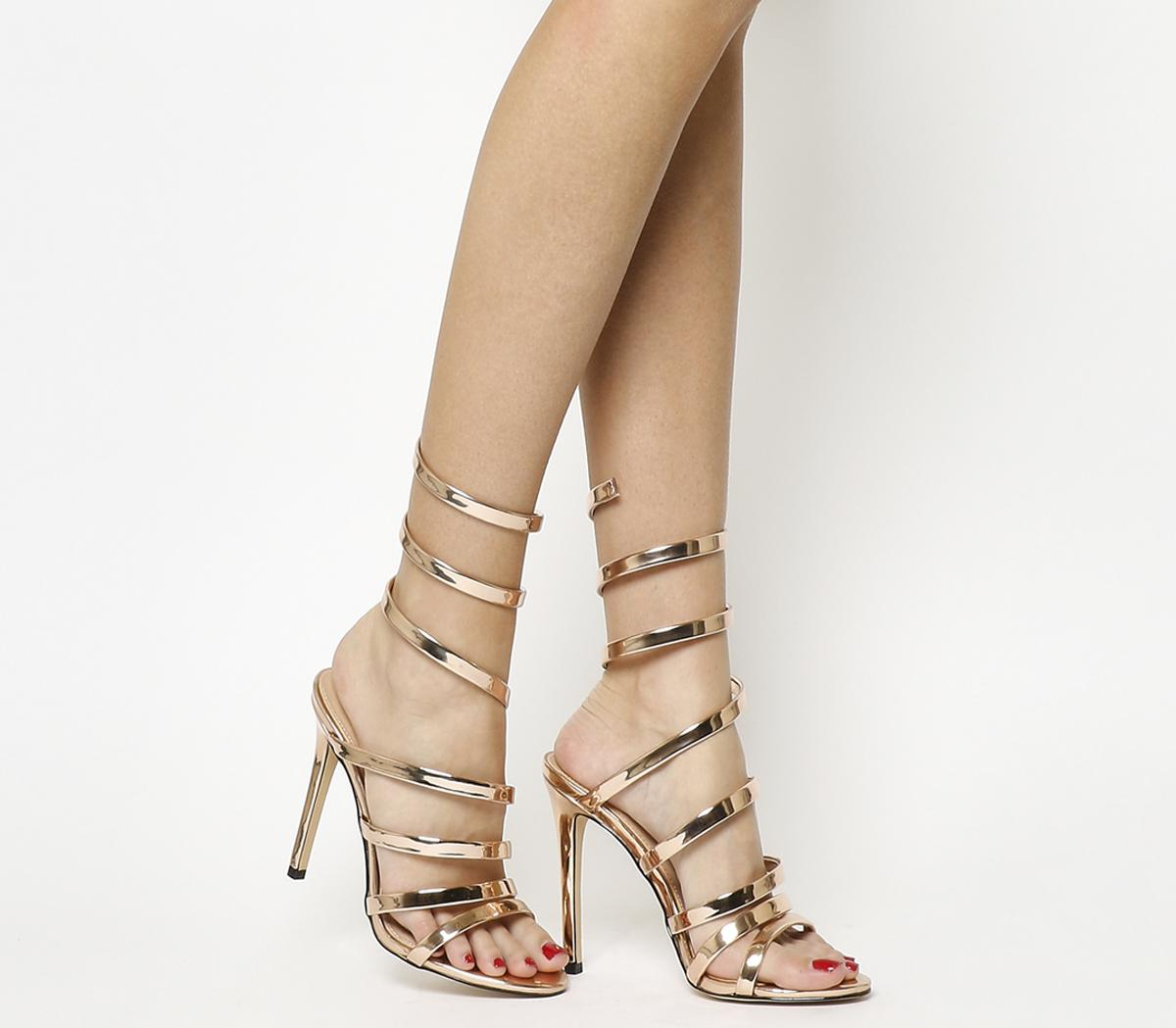 Hundred Heel Strappy Sandals