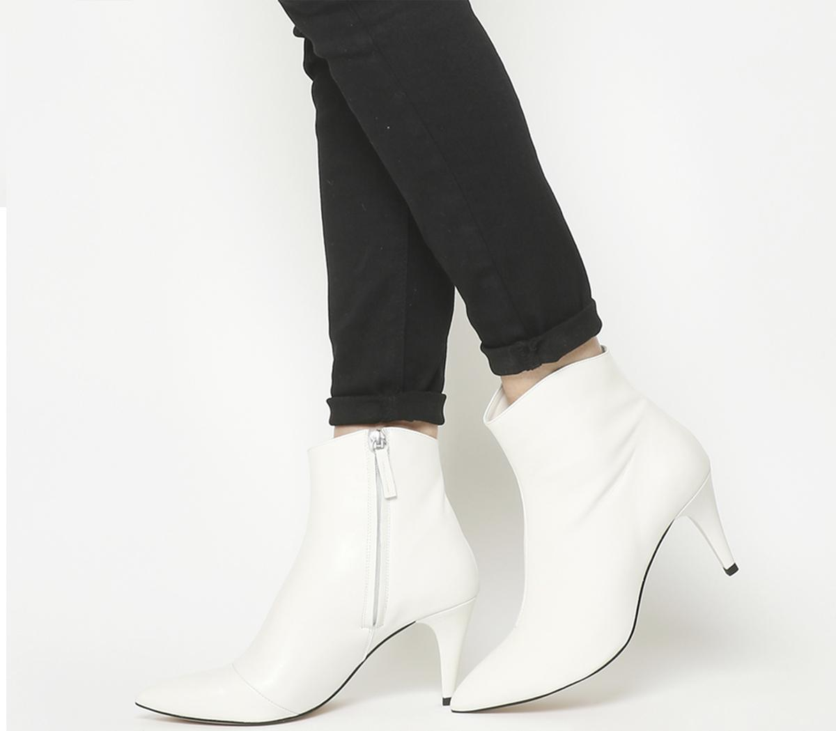 Office Ab Fab Stiletto Boots White