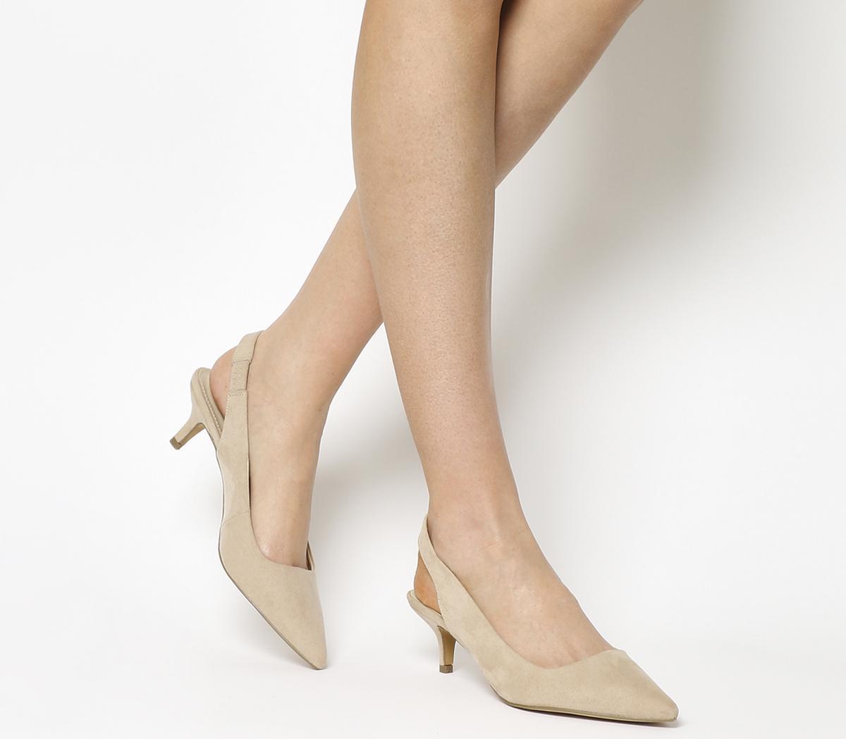 vivido e di grande stile offrire sconti vendita calda genuina Office Make It Slingback Kitten Heels Nude - Mid Heels