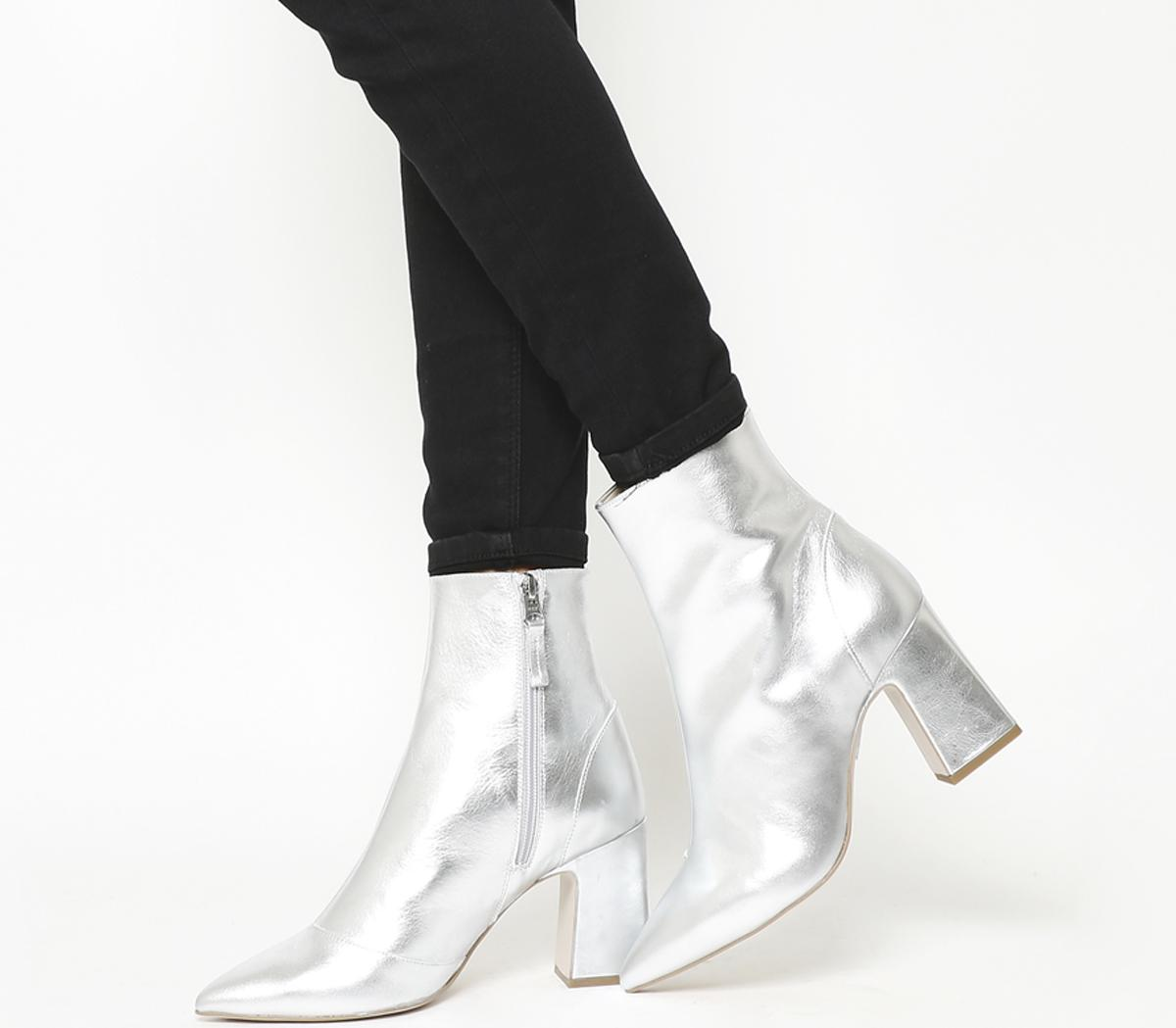 Office Alto Pointed Block Heel Boots