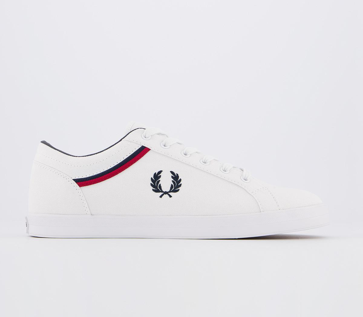 Fred Perry Baseline White Red Navy