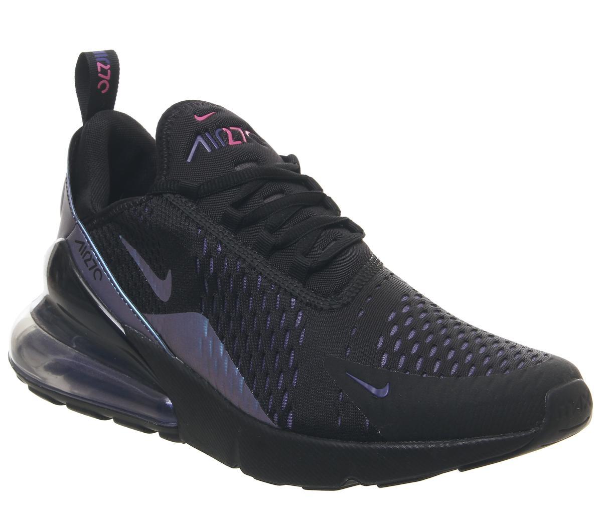 nike air 270 purple and black