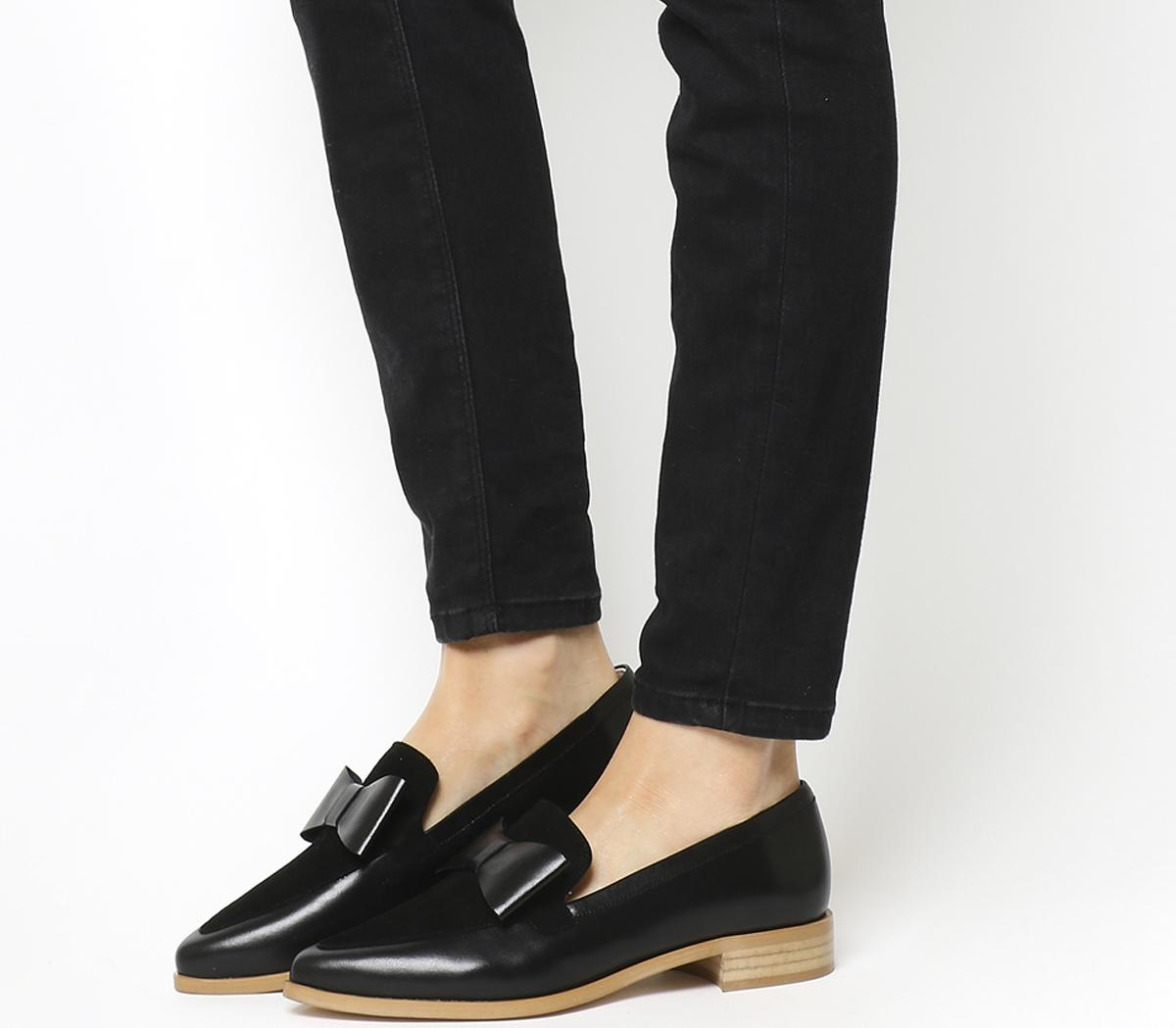 Office Frontline Pointed Bow Loafers
