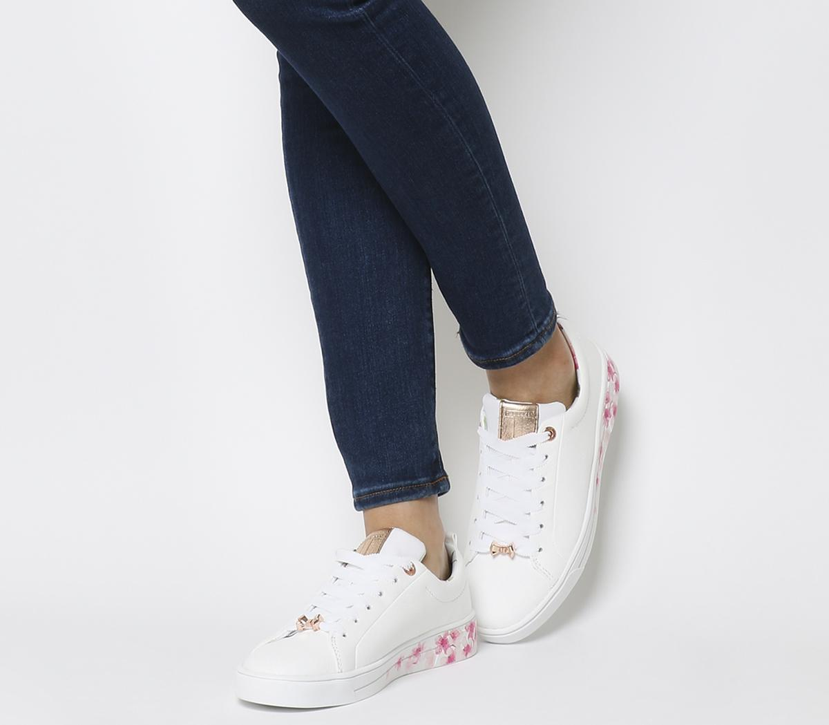 skate shoes fashion 100% authentic Ted Baker Kelleip Sneakers White Leather - Hers trainers