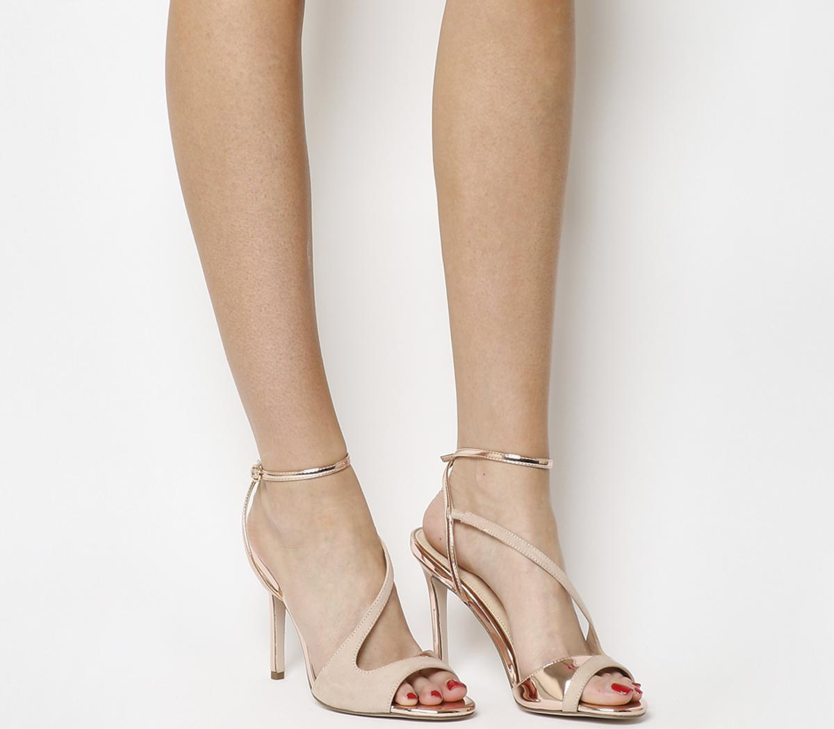 Office High Flyer Heeled Sandals Nude