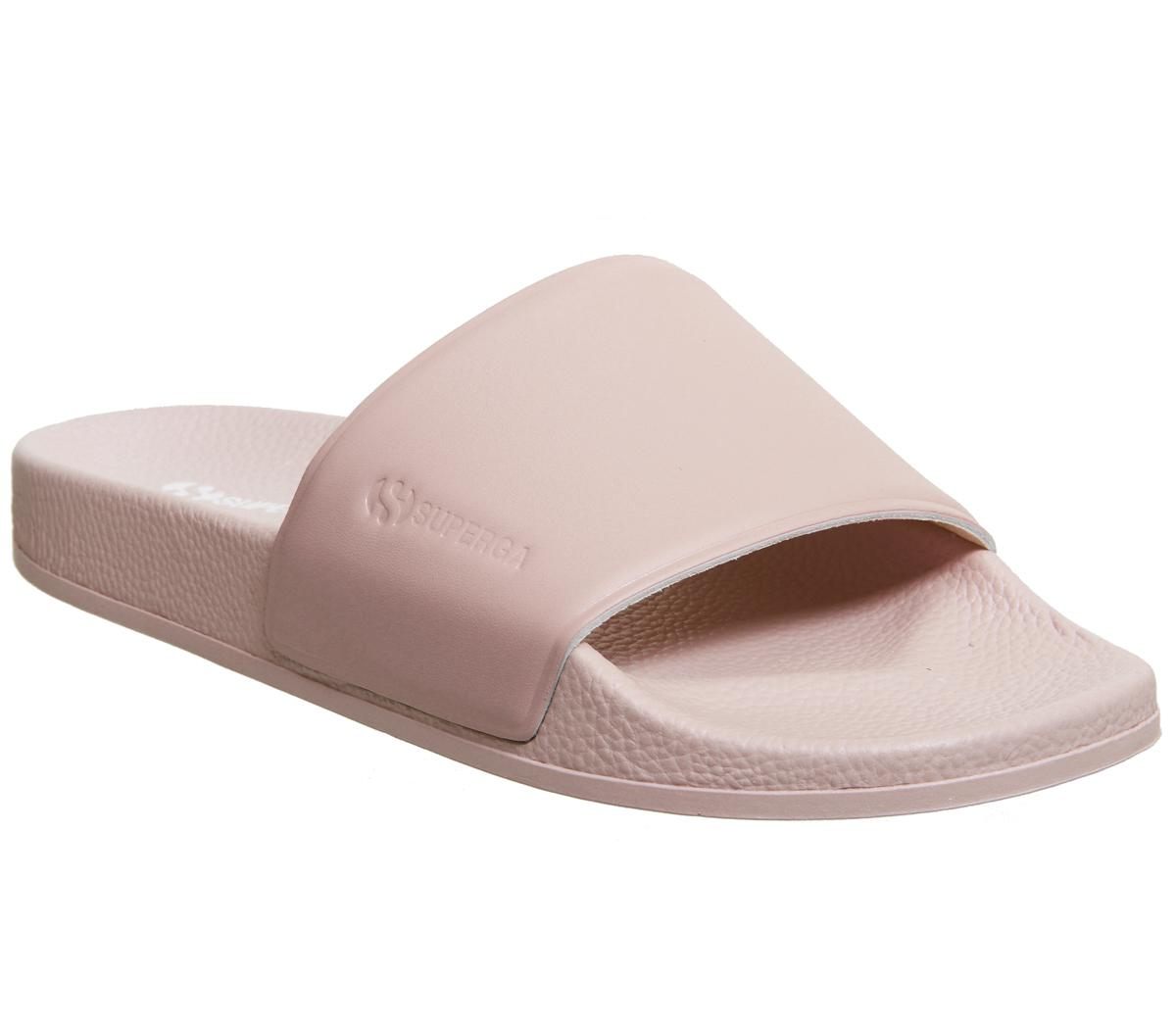 5.5 UK Superga 1908 Womens Pink White Synthetic Slide Sandals