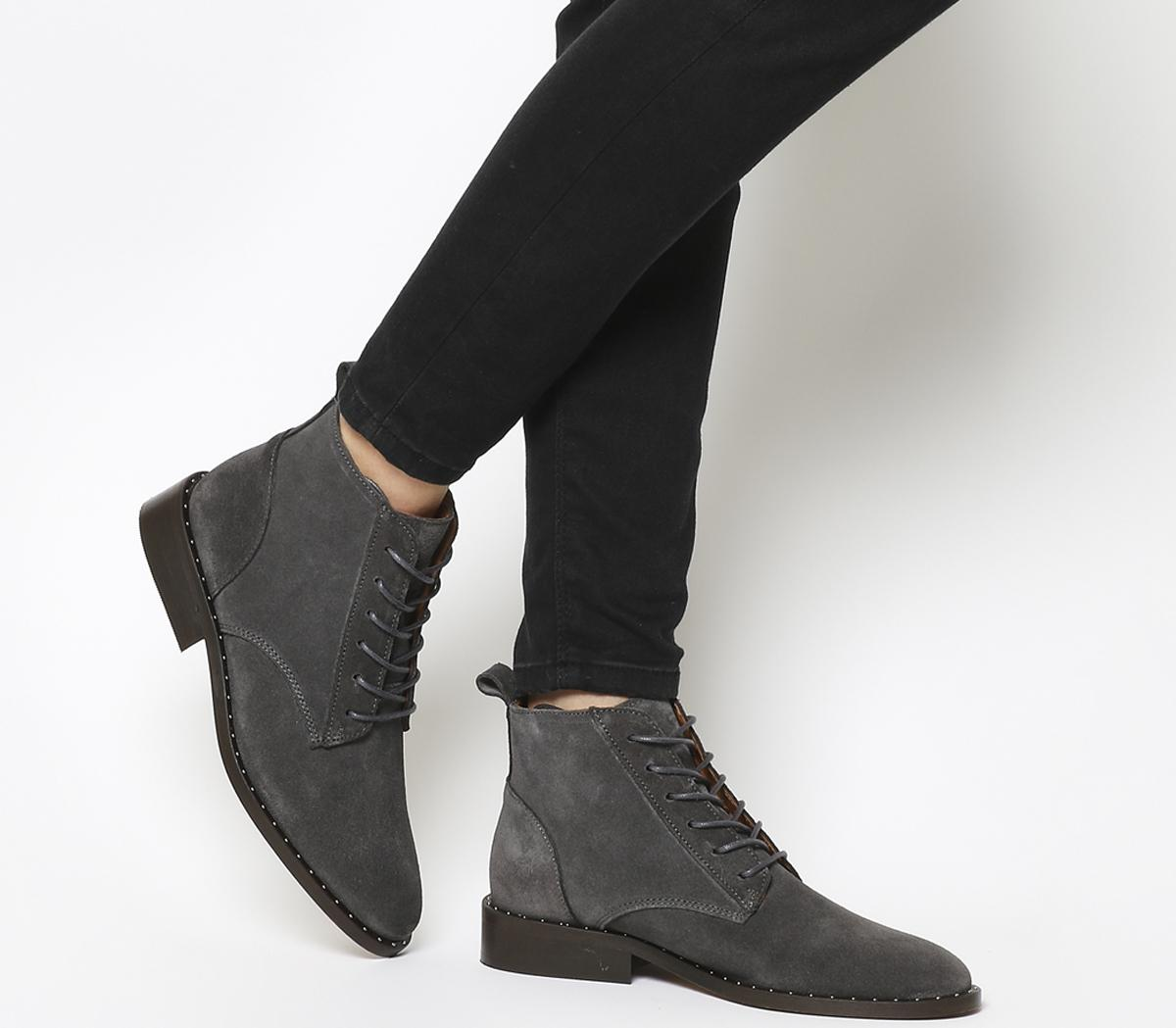 Artful Lace Up Boot With Studs