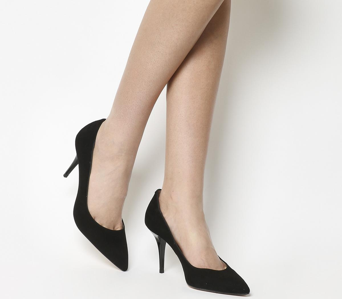Office Masters Point Courts Black Suede