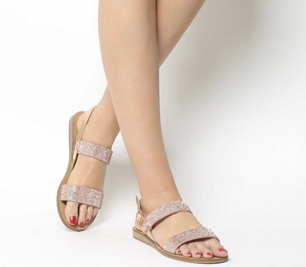 Sherbert Embellished Two Strap Sandals