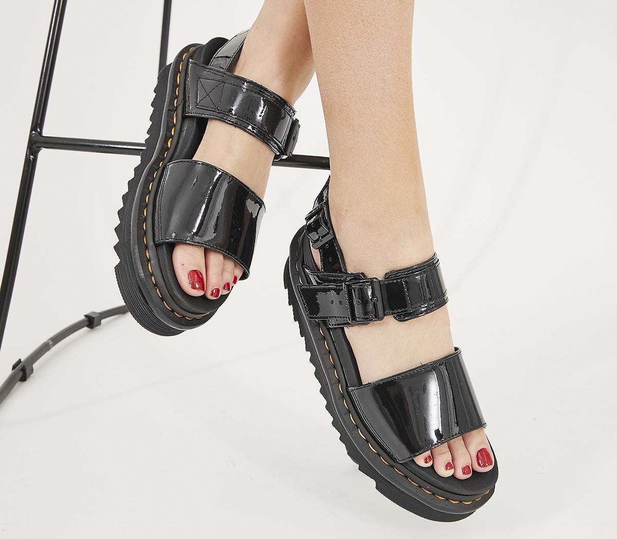Dr. Martens Voss Sandals Black Patent