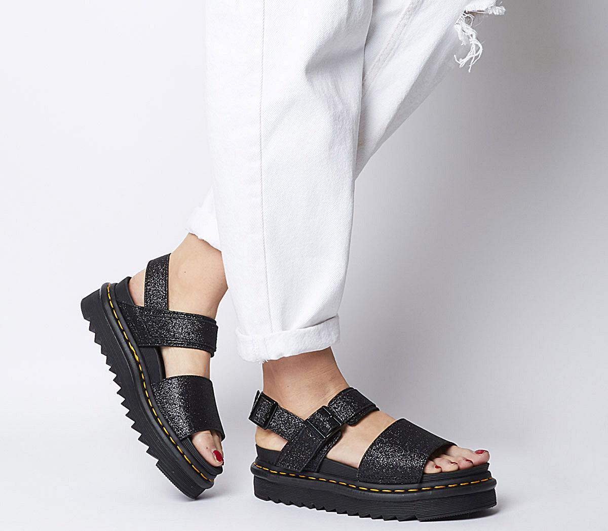 Dr. Martens Voss Sandals Black Fine