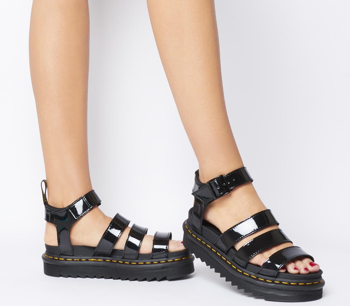 dr marten blaire patent sandals