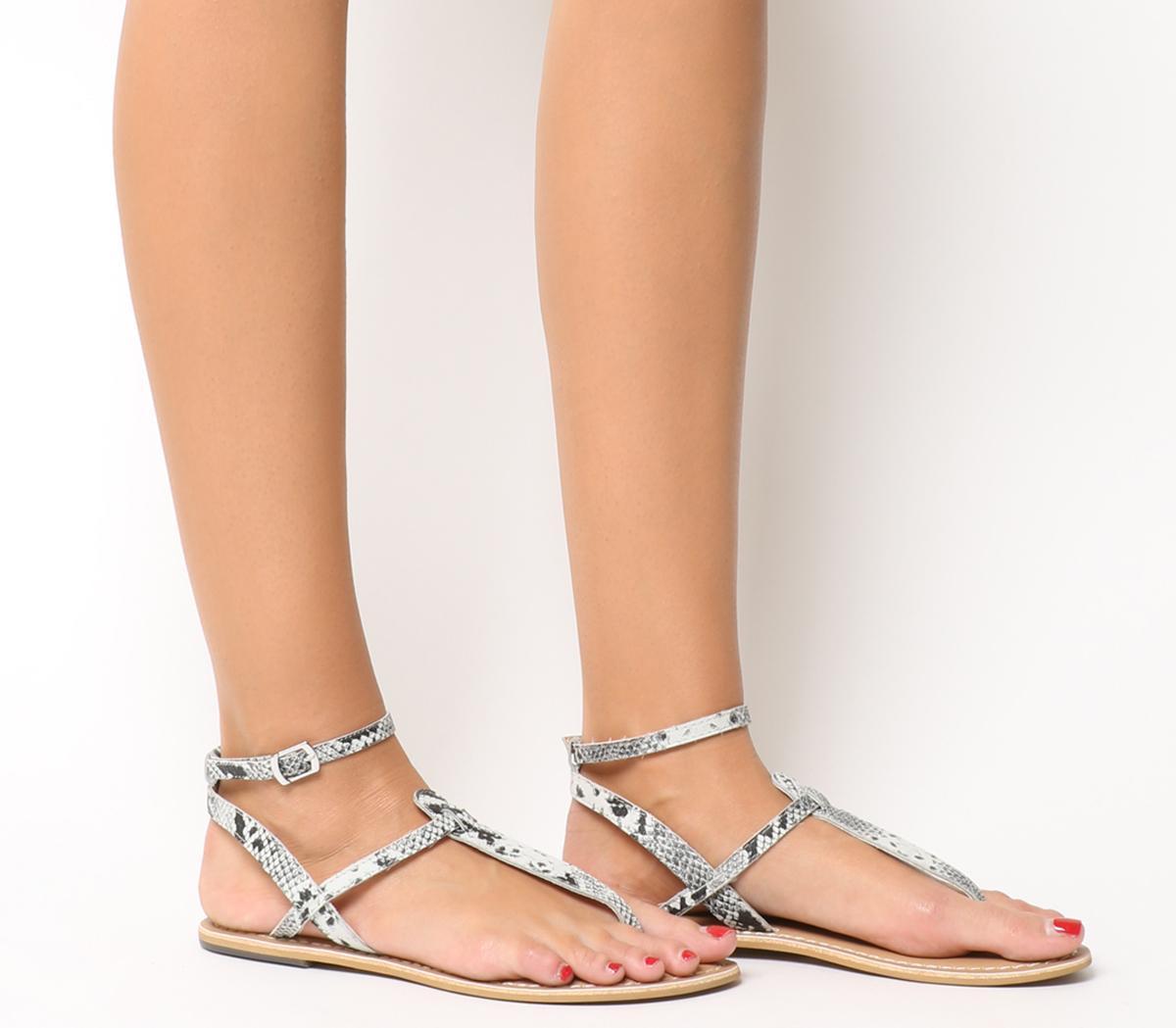 Salsa Ankle Strap Toe Post Sandals