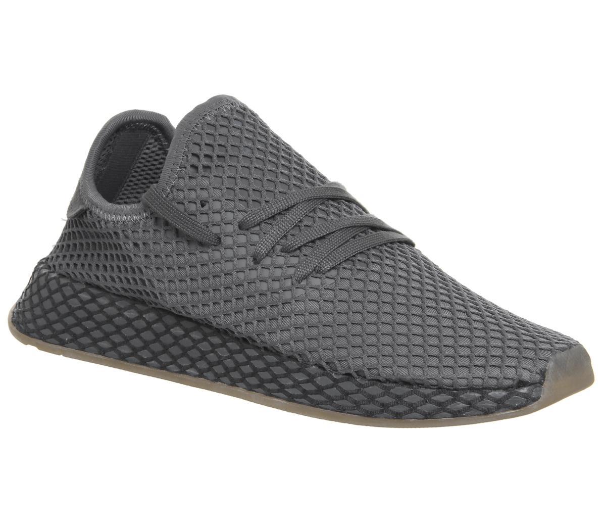 adidas Deerupt Trainers Grey Grey White