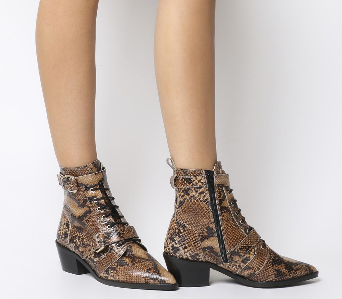 Office Ambassador Lace Up Boots Natural