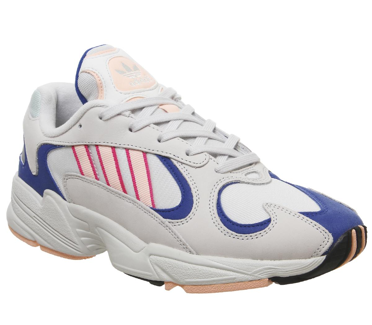 primer ministro Cristo Iniciar sesión  adidas Yung 1 Trainers Crystal White Clear Orange Collegiate Royal - Unisex  Sports