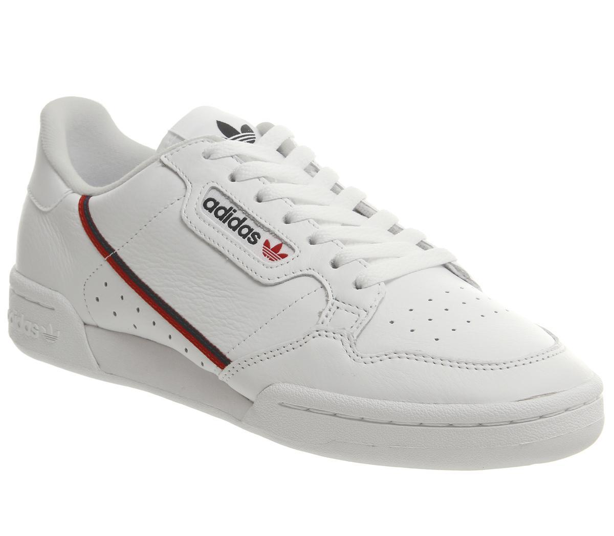 lección Factibilidad circuito  adidas Continental 80s Trainers White Scarlett Collegiate Navy - His  trainers