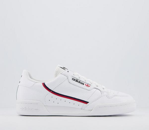 adidas 80s Continental Trainers White White Scarlet Navy - His trainers atnc1lY