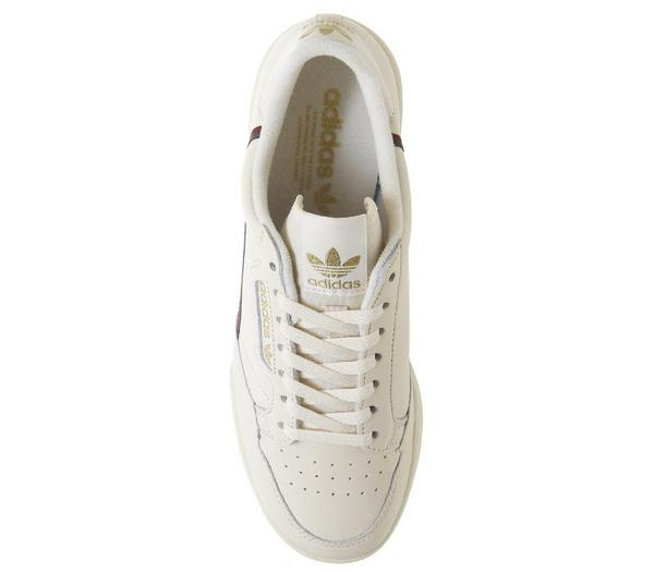 adidas Continental 80s Trainers Chalk Night Cargo Met Gold Exclusive - His trainers waz2Fjj