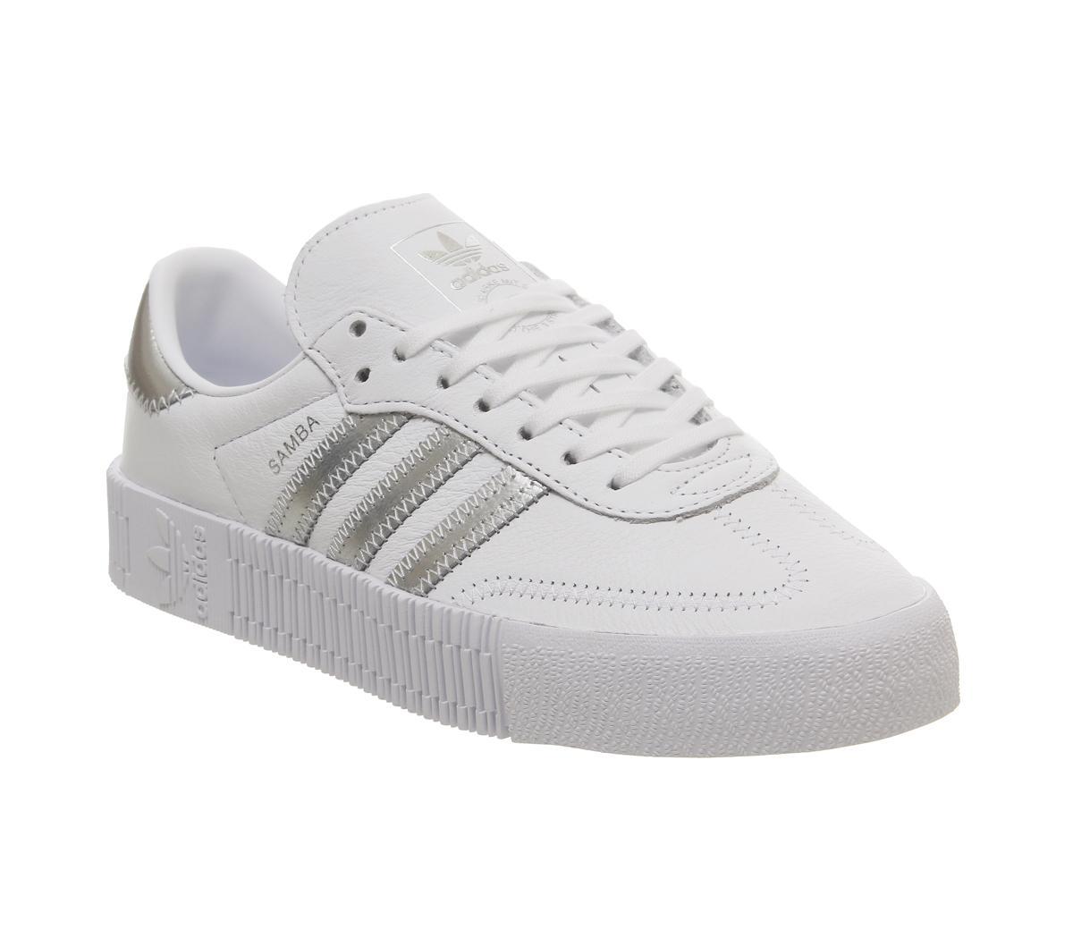 adidas Samba Rose Trainers White Silver