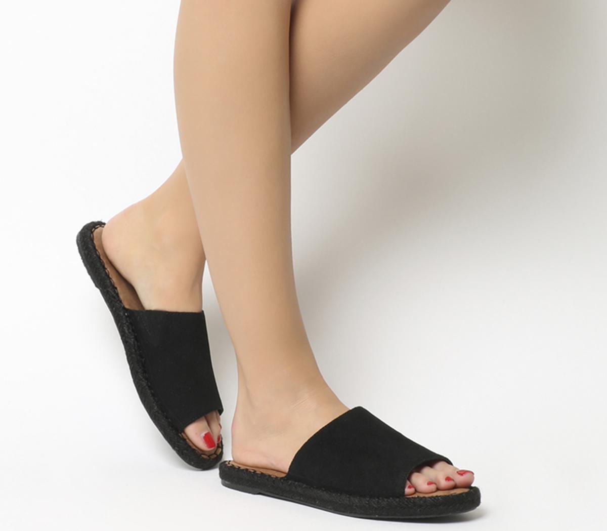 Toms Clarita Sandal Black Suede - Sandals