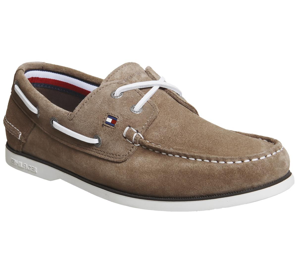 Tommy Hilfiger Classic Boat Shoes Taupe