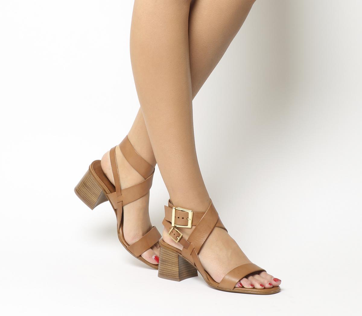 Marley Ankle Wrap Mid Block Heels