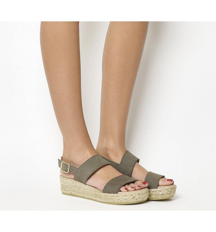 Gaimo for OFFICE Gaimo for OFFICE Ig3 Flatform Sandal GREY SUEDE