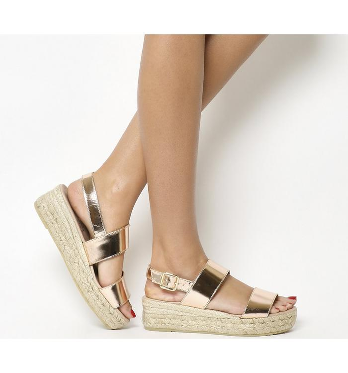Gaimo for OFFICE Gaimo for OFFICE Ig3 Flatform Sandal ROSE GOLD LEATHER