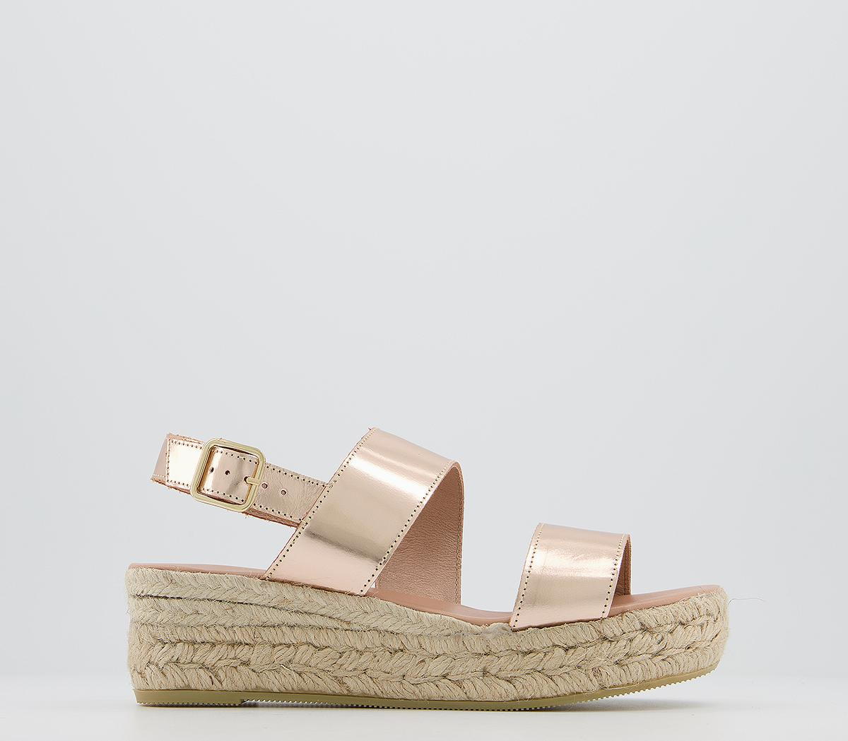 Office Ig3 Flatform Sandals Rose Gold