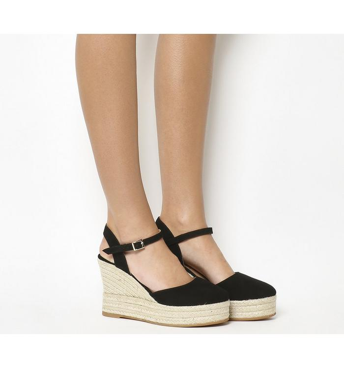 Gaimo for OFFICE Gaimo for OFFICE Hero Platform Wedge BLACK SUEDE