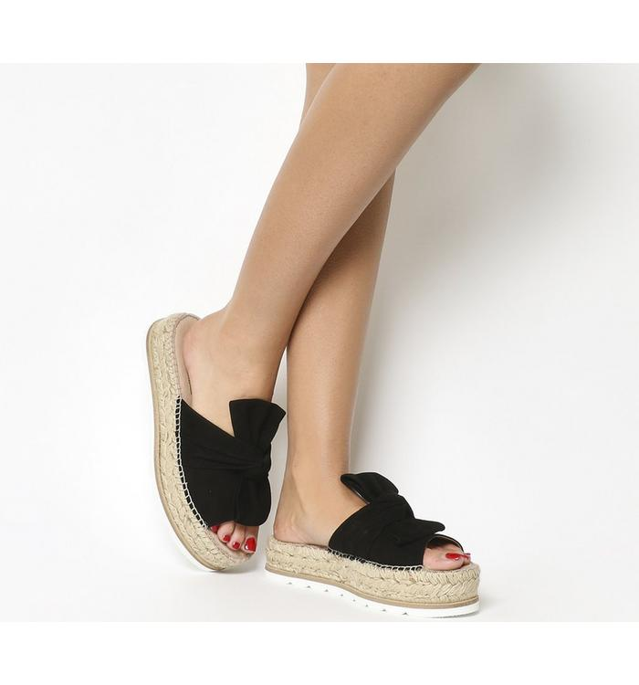 Gaimo for OFFICE Gaimo for OFFICE Samanta Bow Flatform BLACK SUEDE