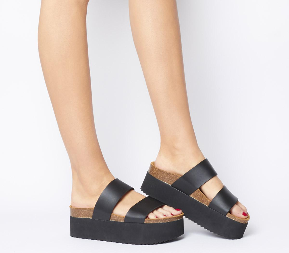 Mambo Flatform Two Strap Sandals
